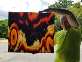 Digital Printed Agate Image on Acyrlic by Graphic Glass Services