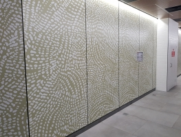 Digital Printed CFC & Acoustic Sheeting for Brisbane Bus Terminal requested by CSP Architectural