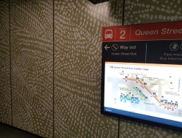 Digital Printed CFC sheeting for Brisbane Bus Terminal by Diverse Grafik Design