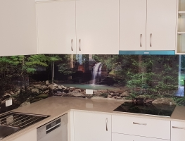 Printed Glass Splashback - Buderim Falls
