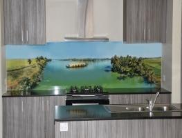 Digital Printed Glass Splashback - Sri Lankan Waterways