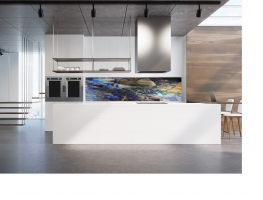 Granite Stone Printed Image Glass Splashback