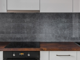 Concrete Texture Printed Glass Splashback