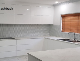 Slider Hexagonal Digital Printed Glass Splashback