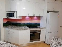Digital Printed Glass Splashback  Glass House Mountains