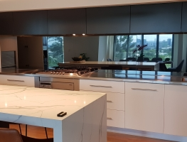 6mm Grey Tint Toughened Mirror by Graphic Glass Services