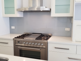 Colourback Glass Splashback Satin Silver by Graphic Glass Services Qld