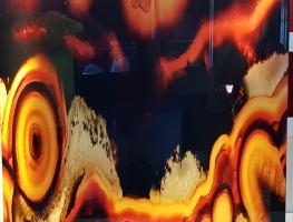 Digital Printed Agate Image on Acrylic by Diverse Grafik Design