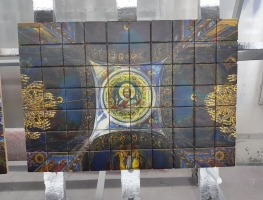 Digital Printed Cathedral Church Ceramic Tiles by Graphic Glass Services Qld