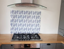 Digital Printed Glass Splashback - Paisley design by Graphic Glass Services