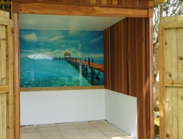 Old Wooden Jetty Digital Printed Glass Panel