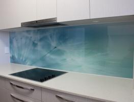 Digitally Printed Dandelion Glass Kitchen Splashback by Graphic Glass Services Qld