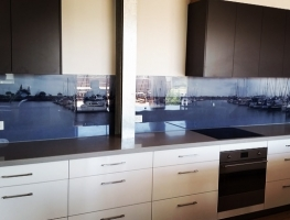 Digitally Printed Glass Splashback using client's own image by Graphic Glass Services Qld