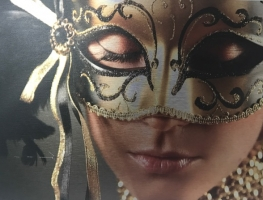 Stunning Gold Mask Digitally Printed Panel by Graphic Glass Services Qld