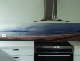 "Digital Printed ""Long Reef"" Glass Splashback by Graphic Glass Services"