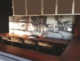 Digital-Printed-Glass-Splashback-Bardon Trams-by-Graphic-Glass-Services