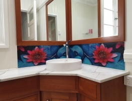 Water-Lily-Digital-Printed-Glass-Splashback-by-Graphic-Glass-Services