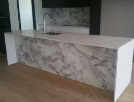 Real Marble Digital Printed Glass Splashback