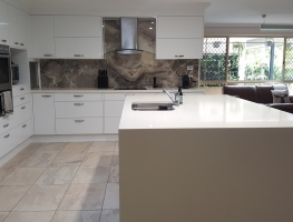 Granite Stone Printed Image on Glass Splashback