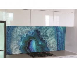 Blue Opal Digital Printed Glass Splashback