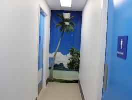 CQU Rockhampton Digital Print in Hallway by Graphic Glass Services Qld