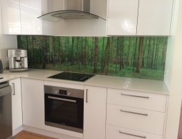 Digitally Printed Kitchen Splashback by Graphic Glass Services Qld
