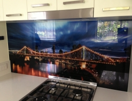 Digitally Printed Glass Splashback by Graphic Glass Servivces Qld