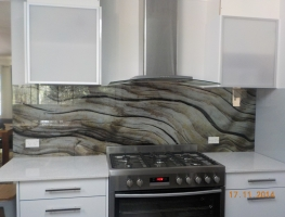 Driftwood Digitally Printed Glass Splashback by Graphic Glass Services Qld