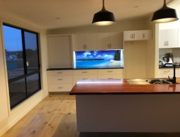 Digital Printed Glass Splashback of Cook Islands