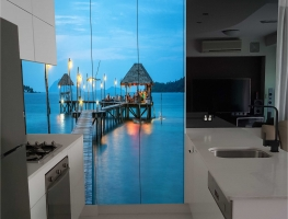 Digital Printed Kitchen Cupboard Doors with Jetty Image