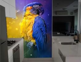 Digital Printed Kitchen Cupboard Doors with Parrot Image