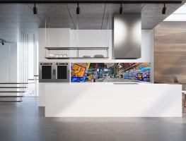 Melbourne Graffiti Art Glass Splashback