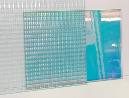 Dichroic Laminated Glass by Graphic Glass Services