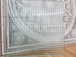 Cross Reeded Laminated Glass by Graphic Glass Services