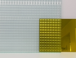 Gold-Laminated-Reeded-Glass  Graphic Glass Services