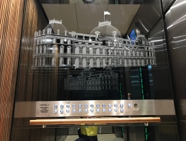 Sandblasted-Mirrors-Parliament-House-Brisbane by Graphic Glass Services