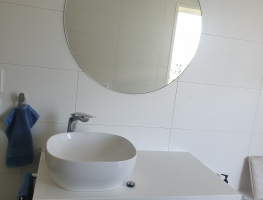 Clear Silver Round Mirror by Graphic Glass Services