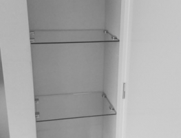 Custom Glass Shelving by Graphic Glass Services Qld