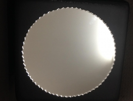 Silver Scalloped Edge Mirror by Graphic Glass Services