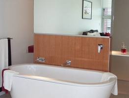 Clear Silver Bathroom Mirror by Graphic Glass Services Qld.