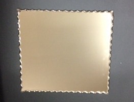 Gold Scalloped Mirror by Graphic Glass Services
