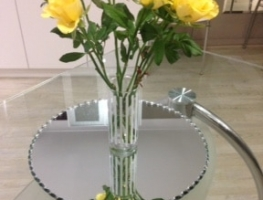 Mirror Centrepieces by Graphic Glass Services
