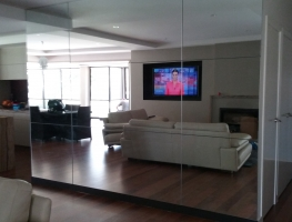 Internal Mirror Wall by Graphic Glass Services Qld