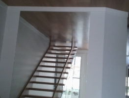 Clear Silver Wall Mirror under staircase by Graphic Glass Services Qld