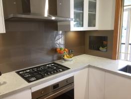 Bronze Metallic Colourback Splashback by Graphic Glasss Services
