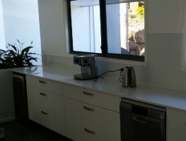 Graphic Glass Services Pale Grey Colourback Glass Splashback