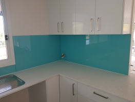 Graphic Glass Tropical Splash Colour Splashback