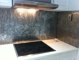 Graphic Glass Services Qld's Mutant Crystal range of Glass Splashbacks