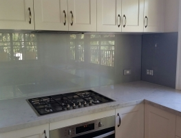 Colourback Glass Splashback by Graphic Glass Services Qld