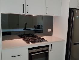 6mm Smoky Grey Tint Toughened Mirror Splashback